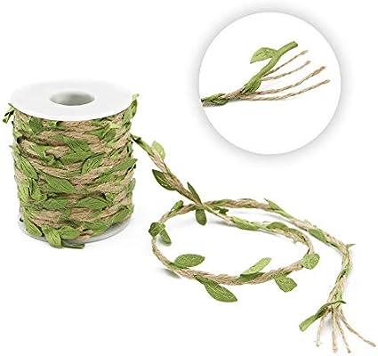 Thick Twine-65 Feet Artificial Vine Fake Foliage Leaf Plant Garland Rustic Jungle Vines Wedding Home Decor JIJIA