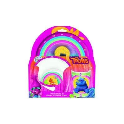 Danawares Trolls 3Pc Melamine Set in Open Pkg Age/Grade 3+: Toys & Games