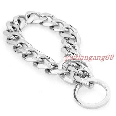 Length (inches)  28 recommend dog's neck 24 Width (inches)  17mm Silver Length (inches)  28 recommend dog's neck 24 Width (inches)  17mm Silver FidgetGear Silver gold Silver&gold Flat Curb Link Stainless Steel Dog Chain Collar 12 -36  28  Recommend Dog's