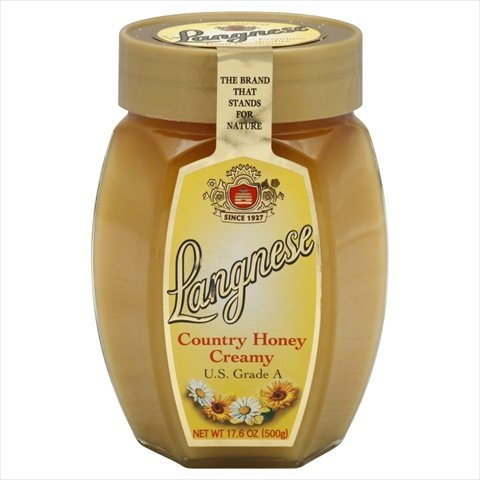 Langnese Country Creamy Honey, 17.6oz Glass Jars (Pack of 10)