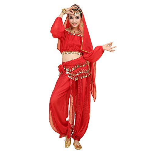 Maylong Women's Harem Pants Belly Dance Outfit Genie