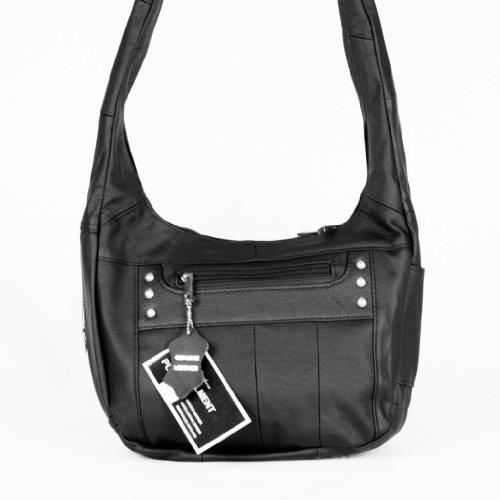 Top Grain Leather Locking Concealment Purse - CCW Concealed Carry Gun Handbag