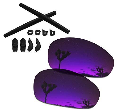 SmartVLT Men's Plasma Purple Replacement Lenses&Rubber Kits for Oakley Juliet Sunglass