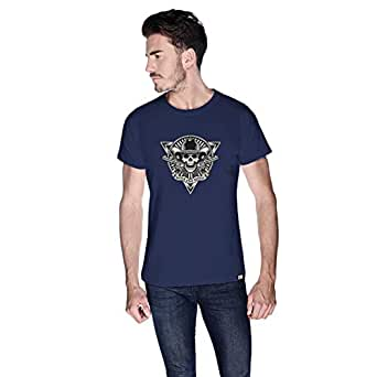 Creo Never Stop Riding Bikes T-Shirt For Men - L, Navy Blue