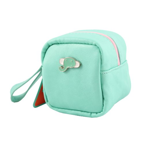 Coin Purse Synthetic Leather Hand Bag Blue