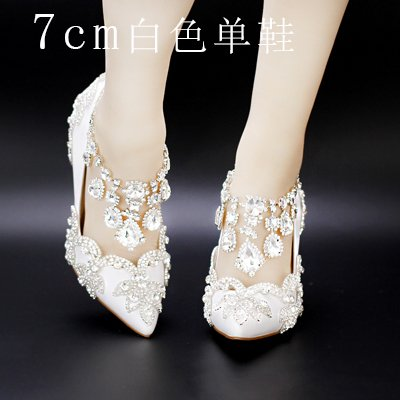 5 Red Fringed Sandals Strap 7Cm Wedding 7 Bride Strap Hollow Shoes Shoes Crystal Diamond Prom Summer Heel Crystal B Shoes VIVIOO High White Buckle Heeled Sandal TqxCY4n5wf