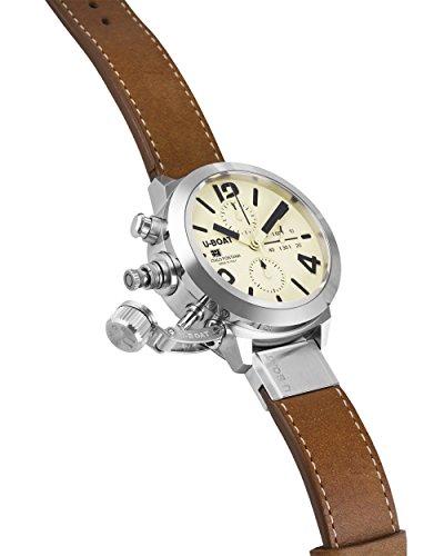 U-Boat Classico automatisk klocka, volfram, 45 mm, kronograf, 7431/A