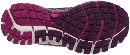 Brooks Ladies Defyance 10 Scarpe Da Corsa, Ebano / Rosa / Plum Grigio (ebano / Rosa / Prugna 1b091)