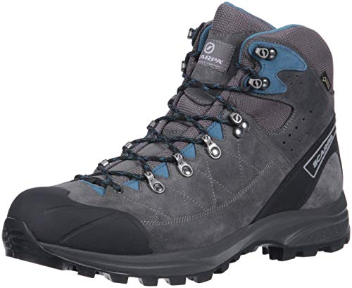 Boot Suede Tex Gore (SCARPA Men's Kailash Trek GTX Hiking Boot Shark Grey/Lake Blue 43 Regular EU (US M 9.5-10, UK 8.5-9 US))