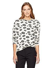7c65f03d14 Dear Drew by Drew Barrymore Womens Broome St Long Sleeve Crew Neck  Sweatshirt