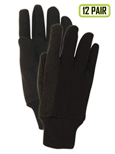(Magid Glove & Safety T92CP Magid MultiMaster T92P PVC Dotted Jersey Gloves, Men's (Fits), Natural Brown, Ladies (Fits Medium) (Pack of 12) )