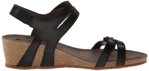 Leather Black Mephisto Sandals Womens Minoa znwxEg