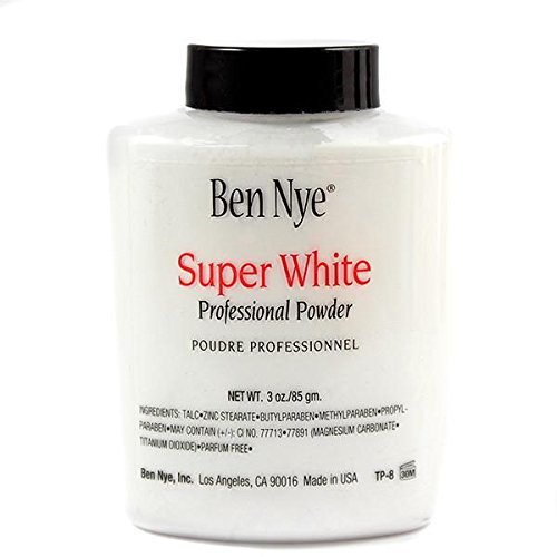 Ben Nye Super White Translucent Face Powder, 3 Oz Shaker Jar]()