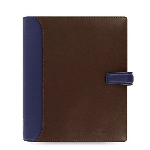 Filofax A5 Nappa Leather Organiser - Chocolate/Blue