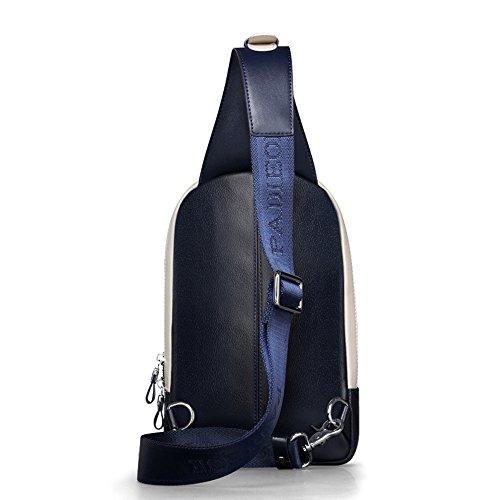 Padieoe Hombre Bolso Bandolera Originales Pecho Bolsos de Bolsas Sport Chest Bag Outdoor Casual Azul