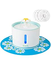 BELOPEZZ 80 Ounces Pet Drinking Fountain Healthy and Hygienic Water Fountain Ultra Quiet Water Level Window with LED Light Auto Shut of Water Shortage for Dogs and Cats