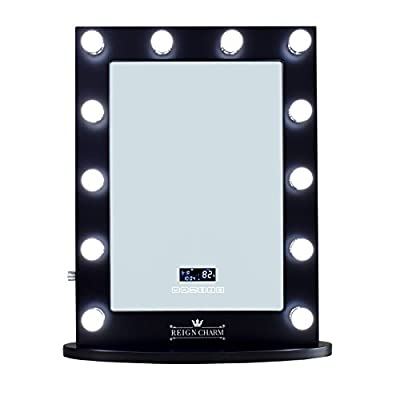 ReignCharm Hollywood Vanity Mirror Bluetooth Audio-Enabled LED Light Bulbs, Black