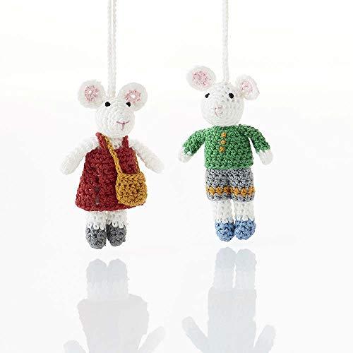 Christmas Mice Ornament Set (Mouse Ornaments)