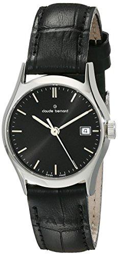 Claude Bernard Women's 54003 3 NIN Classic Ladies Analog Display Swiss Quartz Black Watch