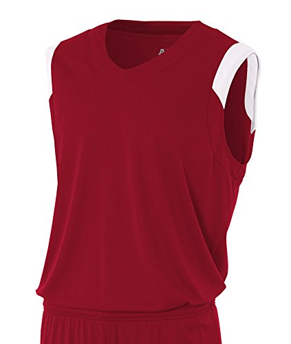 xl white Muscle cardinal V neck Moisture qFXIAI