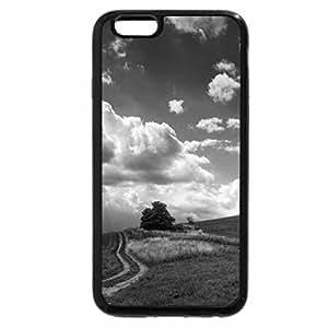 iPhone 6S Plus Case, iPhone 6 Plus Case (Black & White) - Landscape