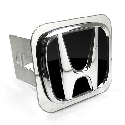 OEM Style 3D Chrome Logo Tow Hitch Cover Plug for Honda Vehicles