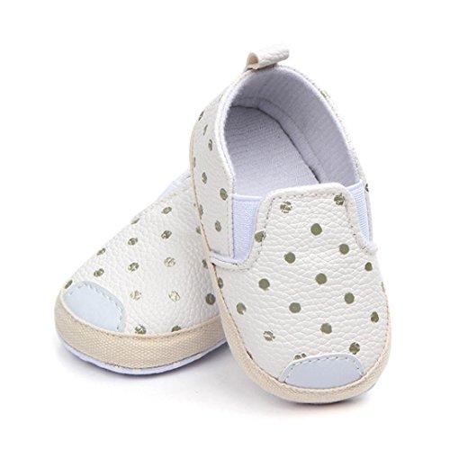 Malloom® Baby Mädchen Jungen Punkt Skate Erste Wanderer Neugeborene Weiche Soled Anti Beleg Schuhe =Polkapunkt Beschuht Weiche Untere Kleinkindschuhe Des Babys Weiß
