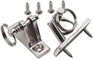VTurboWay 2 Pack Bimini Top Deck Hinge with Removable Pin, 316 Stainless Steel