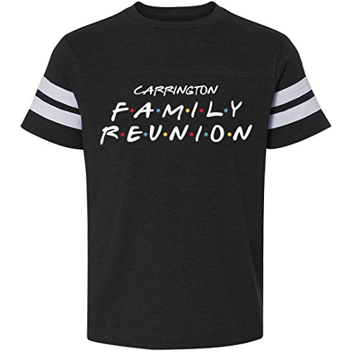 FUNNYSHIRTS.ORG Kids Carrington Family Reunion Matching: Youth Football T-Shirt -