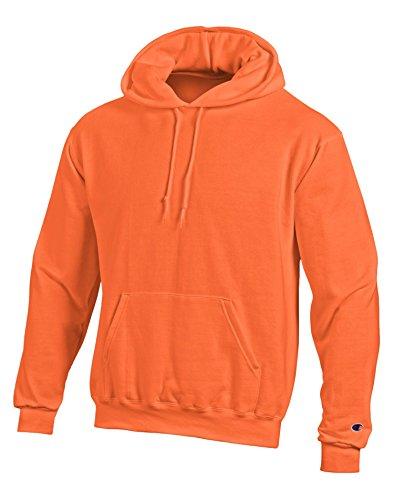 Champion Men's Double Dry Action Fleece Pullover Hood_Orange_S