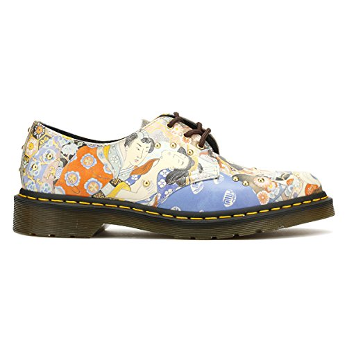 Dr. Martens Mujeres Eastern Art 1461 Zapatos Oriental Revés Straw Grain