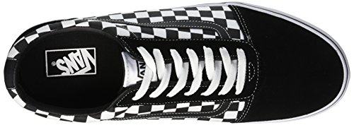 Canvas Sneakers Noir Homme Checker Black Pvj Basses Suede White True Vans Ward EqgnpWO