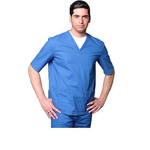 T Royal Uniforme shirt Pantalon Coton Hospitalier Aiesi nbsp; 100 Col V Sfp1RxqBW