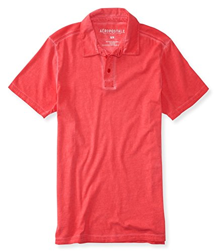 Aeropostale Mens Dyed Rugby Polo Shirt 629 ()