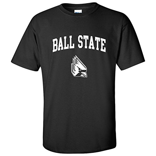 AS03 - Ball State Cardinals Arch Logo T-Shirt - Large - Black (Ball State Basketball)