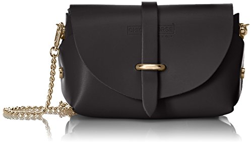 made strap with small shoulder Nero genuine Clutch Woman's Cm 18x11x9 Italy CTM leather Shoulder in bag Black Fw0gxvq
