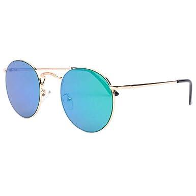 super pas cher se compare à les dernières nouveautés amazon Eye Wear Lunettes de soleil rondes miroir bleu Olky - Mixte ...