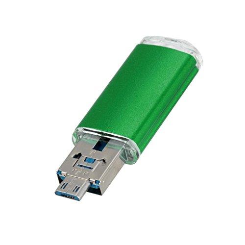 1 Pen Flash Drive - Gotd USB 2.0 1GB/2GB/4GB/8GB/16GB/32GB/64GB OTG Metal Flash Drive Memory Stick Storage Pen Disk Digital U Disk (Green, 8GB)