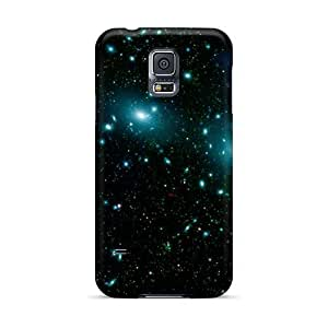 DateniasNecapeer Scratch-free Phone Cases For Galaxy S5- Retail Packaging - Blue Stars In Space