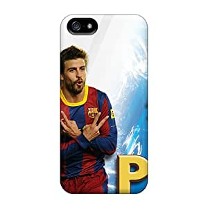 Fashion HjT30719pWxi Cases Covers For Iphone 5/5s(the Player Of Barcelona Gerard Pique On White Background)