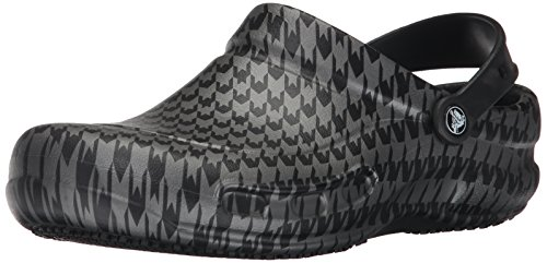 Black Graphic Metallic Silver Unisex Bistro Crocs xc6SRap77
