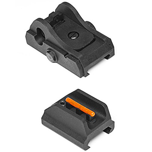 ASG Airsoft ASG Scorpion EVO 3- A1 Polymer Front and Rear Sight - BLACK