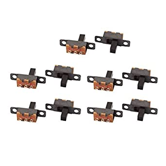 DealMux 10pcs 2 Posição 3P SPDT Panel Mount Micro Slide Switch de travamento Interruptor de Báscula: Amazon.com: Industrial & Scientific
