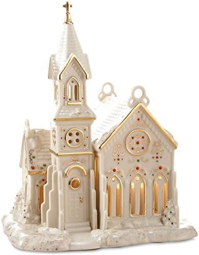 Lenox Porcelain Mistletoe Park Village Treasures Collection 8-in Lighted Village Church
