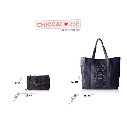 Made Cuir Sacs Borse En Bundle Bleu Italy In Chicca Avz4xn7wn