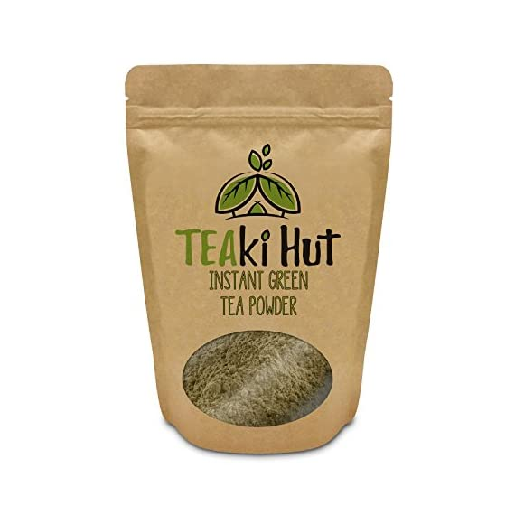Instant Green Tea Powder - 100% Pure Tea - No Fillers, Additives or Artificial Ingredients of Any Kind 10 ✔ THE BEST GREEN TEA POWDER TO LOSE WEIGHT: Scientific studies have discovered that the main ingredients responsible for green tea slimming effects are caffeine and EGCG (epigallocatechin gallate). ✔ ONE SINGLE INGREDIENT: 100% pure green tea made from ground tea leaves. No flavors, preservatives, colors or fillers of any kind added. Not the diluted, off-tasting chemical filled product you're used to buying in the supermarket. This is as pure as it gets! ✔ HEALTHY ALTERNATIVE TO COFFEE: Minimally processed, and free of additives, Tea Factory Instant Green Tea offers a delicious, easy to consume instant tea that contains over one hundred times more antioxidants as compared to brewed tea.
