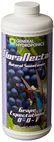 Grape Nectar - General Hydroponics GH1792 Flora Nectar Fertilizer, 1 Quart, White
