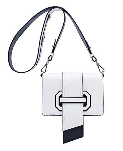 Crossbody On With Leather Qidell Clearance Handbag Clutch White Genuine Strap Women's Shoulder Purse Wallet Pg161xt