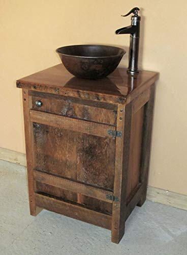 Amazon Com 24 Inch Authentic Barnwood Vanity With Top Handmade