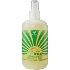 Alaffia Everyday Coconut Coconut Water Face Toner, 12 oz 6 100% FAIR TRADE: Feel good about how you are getting your products with 100% Certified Fair Trade Ingredients. REBALANCE AND REHYDRATE: Certified Fair Trade coconut water rebalances and rehydrates skin while neutralizing surface impurities. TONING AND FIRMING: With neem for microbial balance and papaya to tone and firm, this refreshing step prepares your skin for the day.